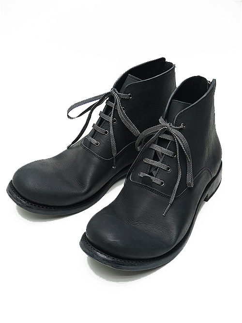 Portaille・ポルタユ/Filled steer lacedup middle boots/BLK