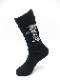 Ground Y・グラウンドワイ/rib high socks GY logo high socks/BLK