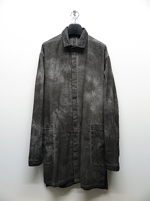 KMRii・ケムリ/Flannel Long Shirt 03/Charcoal