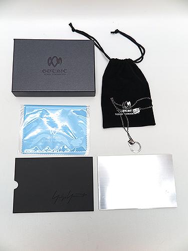 Yohji Yamamoto・ヨウジヤマモト/シルバー950グラスFOLDERペンダント