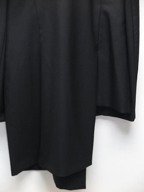Ground Y・グラウンドワイ/T/W gaberdine Asymmetry Jacket/BLACK