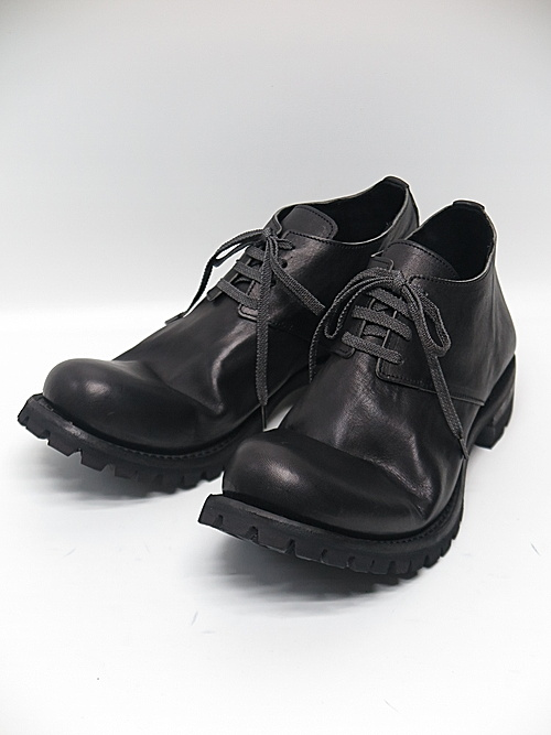 Portaille・ポルタユ/Soft tanned horse leather derby shoes/BLK