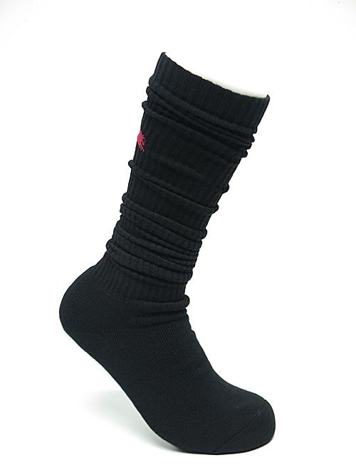 Ground Y・グラウンドワイ/rib high socks GY logo high socks/RED
