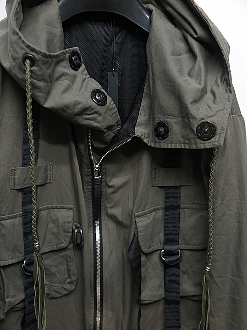 KMRii・ケムリ/Cotton Parachute Mods Coat/Khaki.