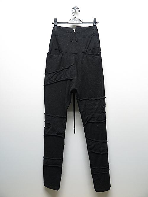(予約品)7〜8月入荷予定/nude:masahiko maruyama ・ヌード:マサヒコマルヤマ/Patched Slim Easy Pants/Charcoal