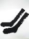 Ground Y・グラウンドワイ/rib high socks YY logo high socks/BLK