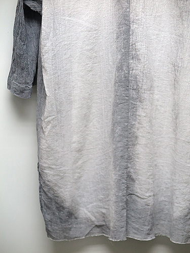 SALE/KMRii(ケムリ)Cotton Discharged Crepe Shirt/CHA.