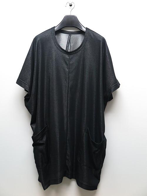 nude:masahiko maruyama ・ヌード:マサヒコマルヤマ/Plating Rib Over Size Pullover w/Long Tshirt/BLKSLV