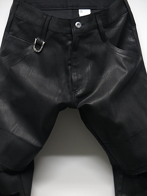 kiryuyrik・キリュウキリュウ/Coating Twill Slash Pants/Black