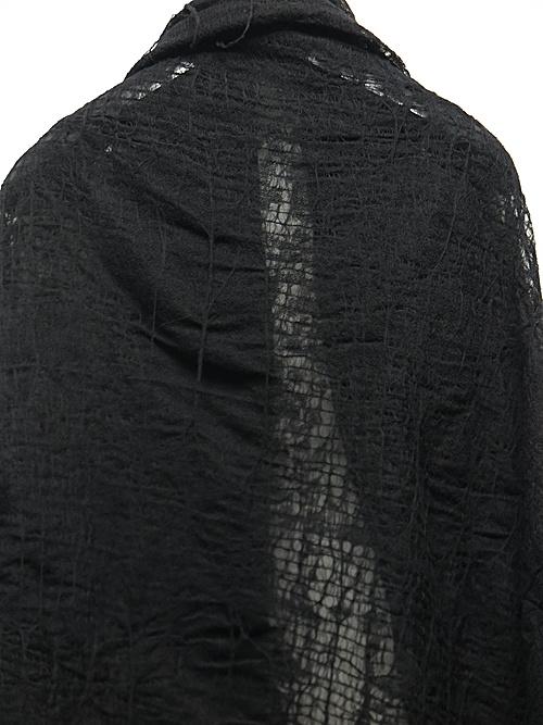 (予約品)7〜8月入荷予定/nude:masahiko maruyama ・ヌード:マサヒコマルヤマ/Large Stole/Black