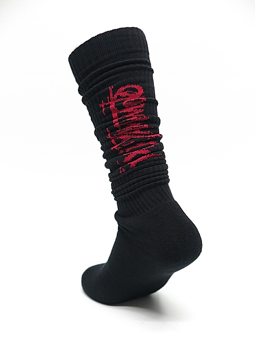 Ground Y・グラウンドワイ/rib high socks YY logo high socks/RED