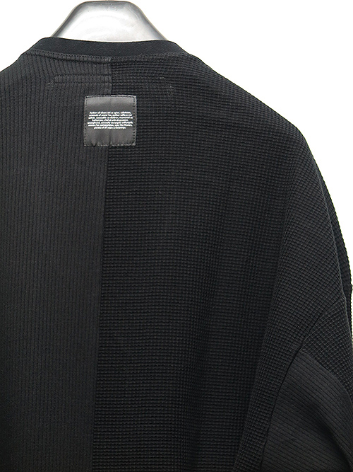 SALE40%OFF/JULIUS・ユリウス/DOUBLE FACE WAFFLE 2 FACE TUCK SHIRT BLACK.