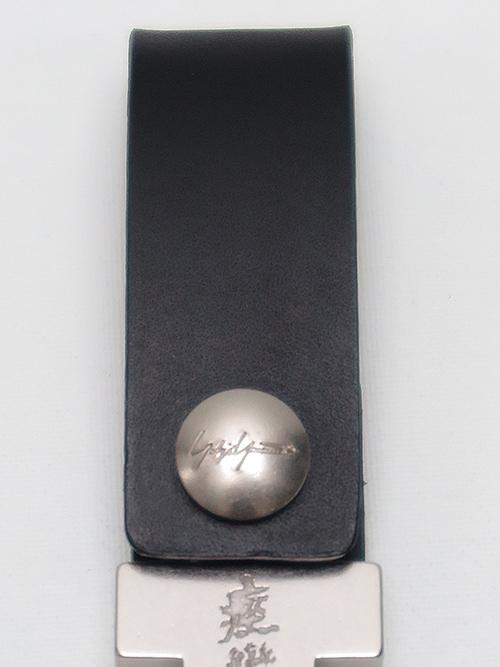 SALE20%OFF/Yohji Yamamoto・ヨウジヤマモト/ヌメ/真鍮/鉄 メッセージキーリングB・ブラック.