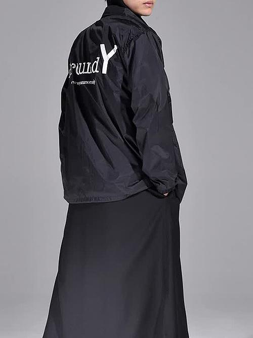 Ground Y・グラウンドワイ/Nylon Taffeta GYコーチジャケット/ブラック