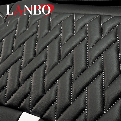 【LANBO】トヨタ 200系ハイエースバン 1-4型 専用 シートカバー LUXE0219