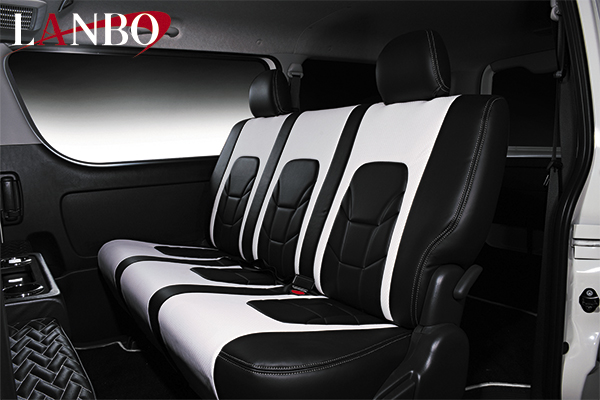【LANBO】トヨタ 200系ハイエースバン 1-4型 専用 シートカバー VOID0219