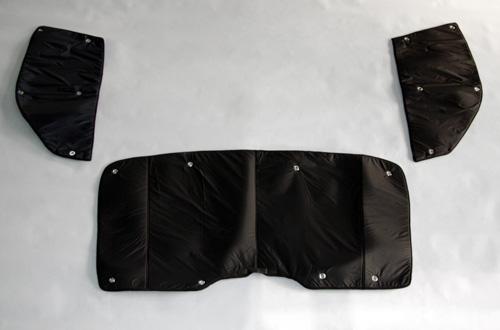 トヨタ ハイエース 200系 1〜4型後期 ワイドボディ 遮光パッド  フロント3面セット ユーアイビークル UI1900224203