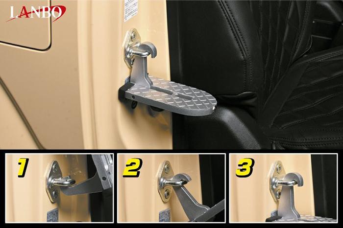 LANBO ドアステップフック アルミ合金 踏み台 汎用品 コンパクト WD101599