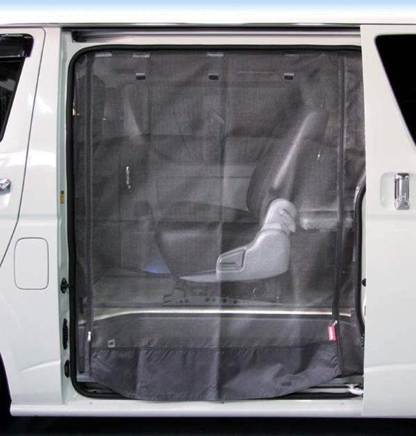 トヨタ ハイエース 200系 1〜4型後期 標準ボディ ワイドボディ S-GL サイド1面 防虫ネット ユーアイビークル UI101301421#