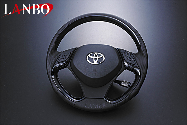 【LANBO】トヨタ ZYX10/NGX50 C-HR専用 デザインステアリング TYPEI LS21#