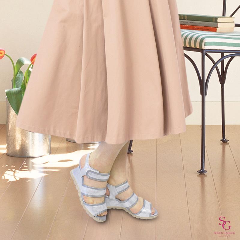 FIZZ REEN フィズリーン 2741 シルバー【会員登録で送料無料&ポイント10%!】魅せるデザインと歩きやすく痛くならない信頼の日本製レディースシューズ・ブランド 足首ベルトでスタビリティ効果!素材の仕上げにこだわったおしゃれサンダルです