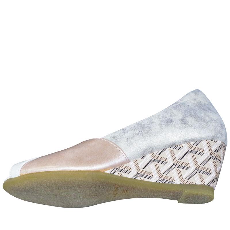 FIZZ REEN フィズリーン 6884 ピンク(シャンパンゴールドに近いです)【会員登録で送料無料&ポイント10%!】 魅せるデザインと歩きやすく痛くならない信頼の日本製レディースシューズ・ブランド オープントゥの人気デザインモデルです