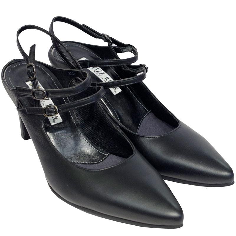 FIZZ REEN フィズリーン 8524 ブラック【会員登録で送料無料&ポイント10%!】 魅せるデザインと歩きやすく痛くならない信頼の日本製レディースシューズ・ブランド 細めのシルエットなのにゆったり幅 EEE!スタイリッシュなバックベルトです