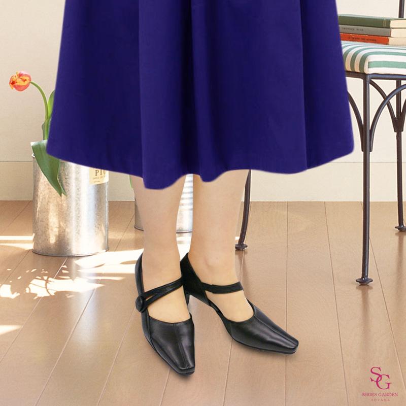 FIZZ REEN フィズリーン 8970 ブラック【会員登録で送料無料&ポイント10%!】魅せるデザインと歩きやすく痛くならない信頼の日本製レディースシューズ・ブランド FIZZ REENのパンプスと言ったらこれ!というくらいの人気パンプスです