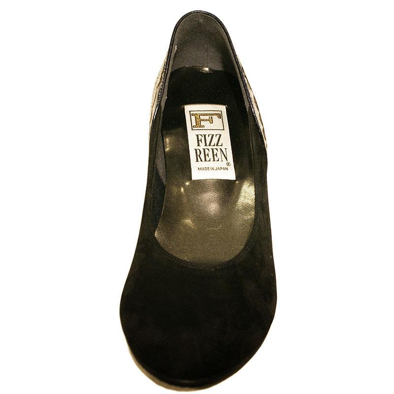 FIZZ REEN フィズリーン 3407 ブラック【会員登録で送料無料&ポイント10%!】 魅せるデザインと歩きやすく痛くならない信頼の日本製レディースシューズ・ブランド おしゃれにはきたいおとなのウェッジシューズです