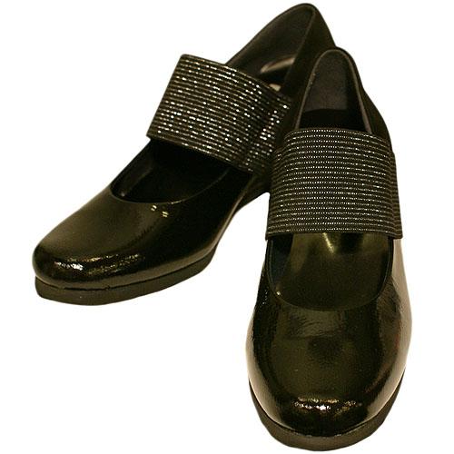 FIZZ REEN フィズリーン 601 ブラック【会員登録で送料無料&ポイント10%!】 魅せるデザインと歩きやすく痛くならない信頼の日本製レディースシューズ・ブランド ベルトがかわいいウェッジヒールのバレエシューズです