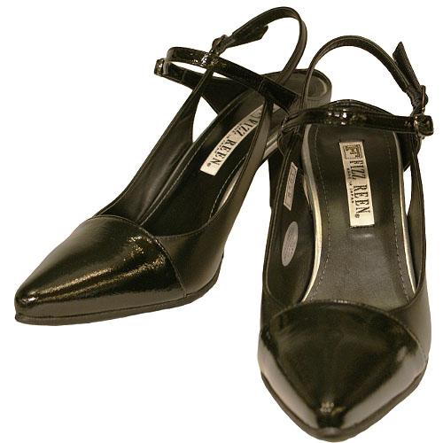 FIZZ REEN フィズリーン 8561 ブラック【会員登録で送料無料&ポイント10%!】 魅せるデザインと歩きやすく痛くならない信頼の日本製レディースシューズ・ブランド 細めのシルエットなのにゆったり幅 EEE!のおしゃれなバイカラーのバックベルトです