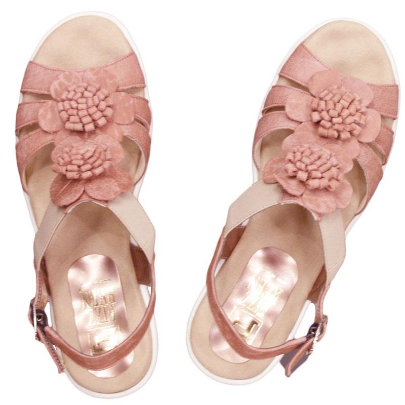 FIZZ REEN フィズリーン 6858 コーラル【会員登録で送料無料&ポイント10%!】魅せるデザインと歩きやすく痛くならない信頼の日本製レディースシューズ・ブランド ソフトレザーのおしゃれサンダルです