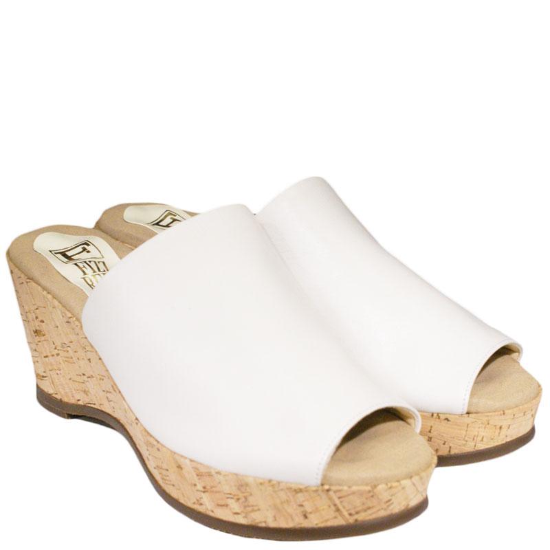FIZZ REEN フィズリーン 4757 ホワイト(アイボリー系です)【会員登録で送料無料&ポイント10%!】魅せるデザインと歩きやすく痛くならない信頼の日本製レディースシューズ・ブランド 気軽に履けるミュールです
