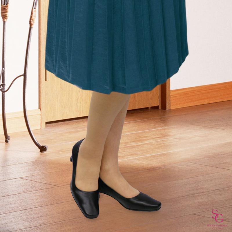 《NINE DI NINE》 &《FIZZ REEN》 520 ブラック【会員登録で送料無料&ポイント10%!】魅せるデザインと歩きやすく痛くならない信頼の日本製レディースシューズ・ブランド FIZZ REENの5cmヒールの定番人気パンプスです