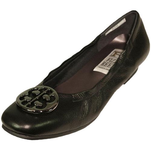 《FIZZ REEN フィズリーン》 300 ブラック【会員登録で送料無料&ポイント10%!】 魅せるデザインと歩きやすく痛くならない信頼の日本製レディースシューズ・ブランド ゆったり幅のEEE メタルがポイントの大人気バレエ フラットシューズです