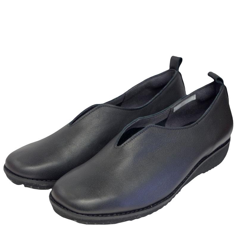 《FIZZ REEN フィズリーン》 350 ブラック【会員登録で送料無料&ポイント10%!】 魅せるデザインと歩きやすく痛くならない信頼の日本製レディースシューズ・ブランド ゆったり幅のEEE 自然な風合いが心地よいカッターシューズです