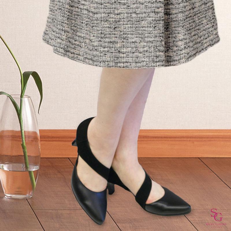 《FIZZ REEN フィズリーン》7811 ブラック【会員登録で送料無料&ポイント10%!】 魅せるデザインと歩きやすく痛くならない信頼の日本製レディースシューズ・ブランド 6�ヒールのFIZZ REENらしく上品な上に歩きやすい! コーデをひきたててくれる使いやすいパンプスで