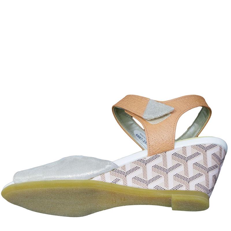 FIZZ REEN フィズリーン 6887 コーラル【会員登録で送料無料&ポイント10%!】魅せるデザインと歩きやすく痛くならない信頼の日本製レディースシューズ・ブランド 足首ベルトでスタビリティ効果!2トーンコンビのおしゃれサンダルです