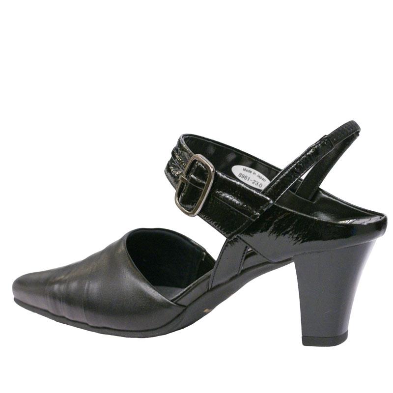FIZZ REEN フィズリーン 8961 ブラック【会員登録で送料無料&ポイント10%!】魅せるデザインと歩きやすく痛くならない信頼の日本製レディースシューズ・ブランド 履きやすくておしゃれなストラップパンプス