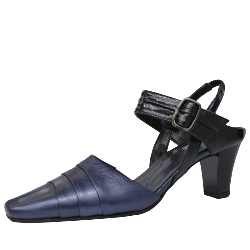 FIZZ REEN フィズリーン 8961 ネイビー【会員登録で送料無料&ポイント10%!】魅せるデザインと歩きやすく痛くならない信頼の日本製レディースシューズ・ブランド 履きやすくておしゃれなストラップパンプス