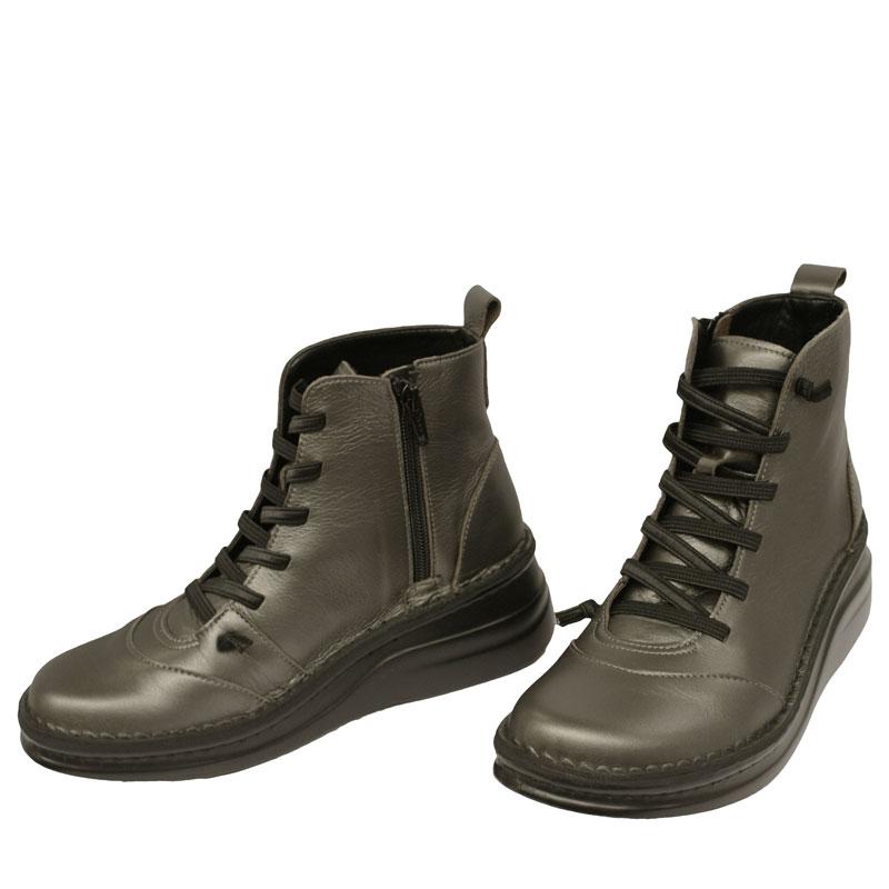 《Put's プッツ》《SPORTS NINE スポーツナイン》8468 84685 ガンメタ【会員登録で送料無料&ポイント10%!】足に吸いつくようなはきごこち! 脱ぎ履きカンタンのサイドファスナー付き編み上げブーツです