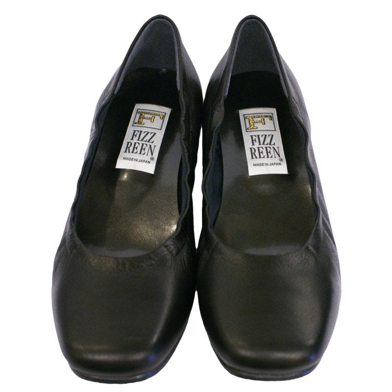 《FIZZ REEN フィズリーン》 301 ブラック【会員登録で送料無料&ポイント10%!】 魅せるデザインと歩きやすく痛くならない信頼の日本製レディースシューズ・ブランド ゆったり幅のEEE デイリーから、旅先、フォーマルにも便利な一足です