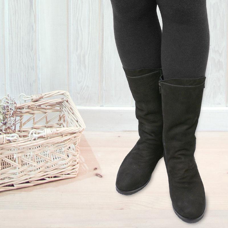 《FIZZ REEN フィズリーン》1463 ブラック【会員登録で送料無料&ポイント10%!】 魅せるデザインと歩きやすく痛くならない信頼の日本製レディースシューズ・ブランド 大きなファスナーが目を惹くインヒールブーツです