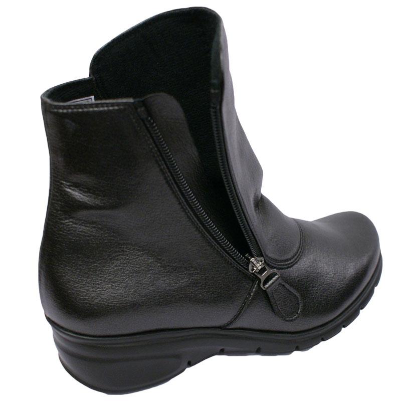 SPORTS NINE スポーツナイン 14740 ブラック【会員登録で送料交換無料&ポイント10%!】合わせやすさと履き心地の良さがコンセプトの日本製レディースシューズ・ブランド ゆったり幅のEEE 雨でも履けるソフリナ素材のショートブーツ