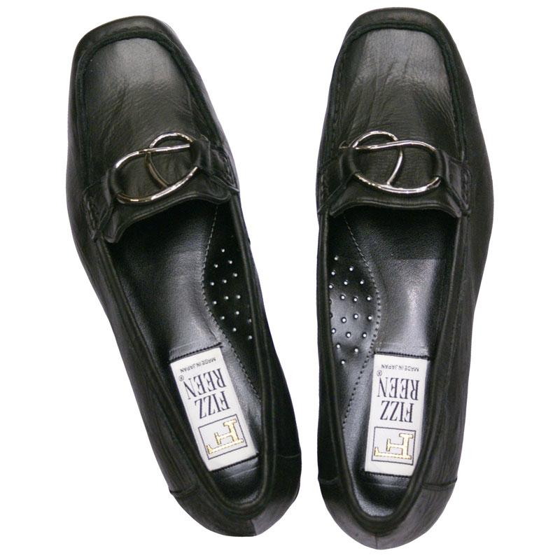 《FIZZ REEN フィズリーン》9801 ブラック【会員登録で送料無料&ポイント10%!】 魅せるデザインと歩きやすく痛くならない信頼の日本製レディースシューズ・ブランド ゆったり幅のEEE ダブルクッションで旅行や街歩きに最適!!人気ローファーです