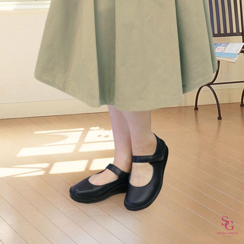 Put's プッツ 8584 ブラック【会員登録で送料無料&ポイント10%!】 Put'sは足もとと人を美しくするレディースシューズ・ブランド ストラップがかわいいバレエシューズです