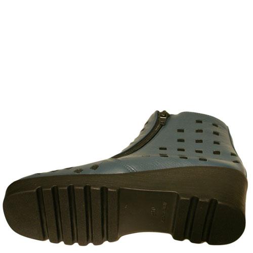 <厚底ブーツ>Put's プッツ 10610 ブルー【会員登録で送料無料&ポイント10%!】 Put'sは足もとと人を美しくするレディースシューズ・ブランド ゆったり幅のEEE
