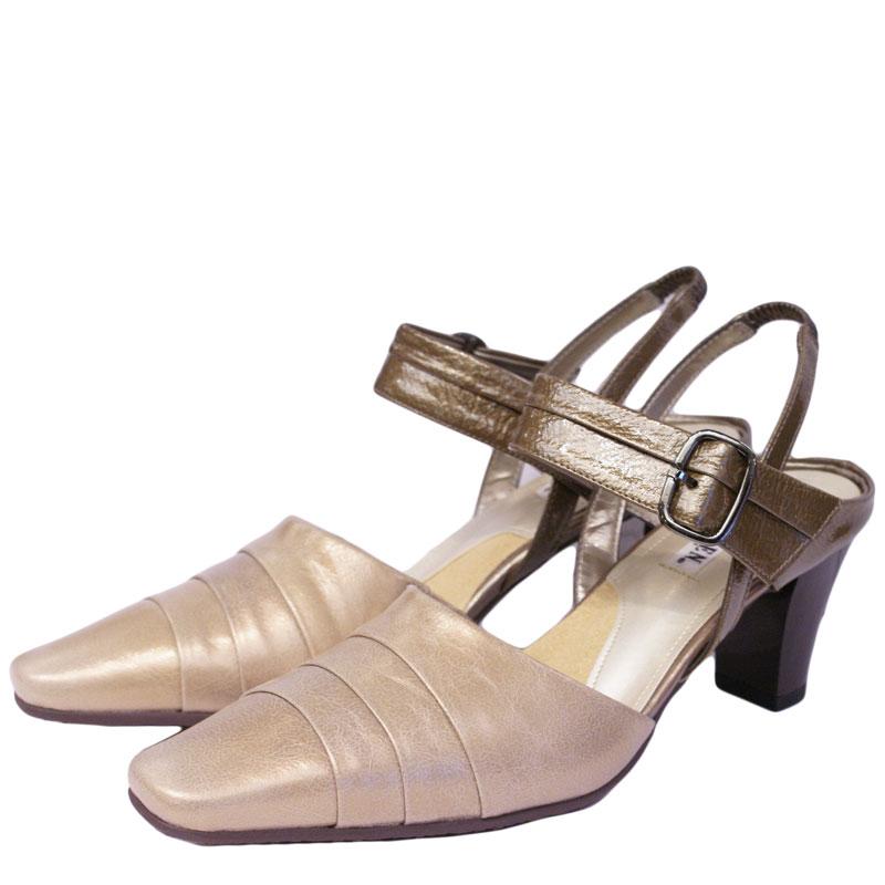FIZZ REEN フィズリーン 8961 ベージュ【会員登録で送料無料&ポイント10%!】魅せるデザインと歩きやすく痛くならない信頼の日本製レディースシューズ・ブランド 履きやすくておしゃれなストラップパンプス