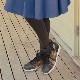 《FIZZ REEN フィズリーン》1710 ネイビー  【会員登録で送料交換無料&ポイント10%!】 魅せるデザインと歩きやすく痛くならない信頼の日本製レディースシューズ・ブランド ゆったり幅EEE 花柄キルティングがすてきなカジュアルシューズです