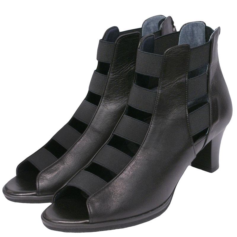 Put's プッツ 6752 ブラックスムース【会員登録で送料無料&ポイント10%!】 Put'sは足もとと人を美しくするレディースシューズ・ブランド ゆったり幅のEEE スタイリッシュなサマーブーツです